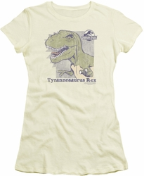 Jurassic Park juniors t-shirt Retro Rex cream
