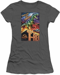 Jurassic Park juniors t-shirt Rex In The City charcoal