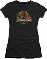 Jurassic Park juniors t-shirt Something Has Survived black