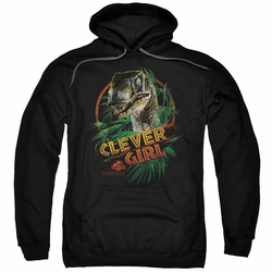Jurassic Park pull-over hoodie Clever Girl adult black