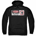 Jurassic Park pull-over hoodie Electric Fence Sign adult black
