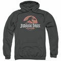 Jurassic Park pull-over hoodie Faded Logo adult charcoal
