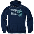 Jurassic Park pull-over hoodie God Creates Dinosaurs adult navy