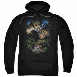 Jurassic Park pull-over hoodie Happy Family adult black