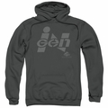 Jurassic Park pull-over hoodie Ingen Logo adult charcoal