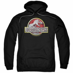 Jurassic Park pull-over hoodie Logo adult black