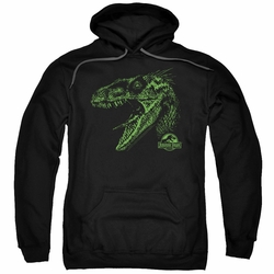 Jurassic Park pull-over hoodie Raptor Mount adult black