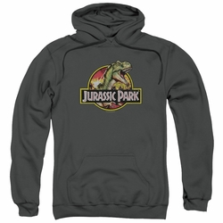Jurassic Park pull-over hoodie Retro Rex adult charcoal