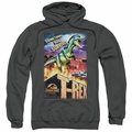 Jurassic Park pull-over hoodie Rex In The City adult charcoal