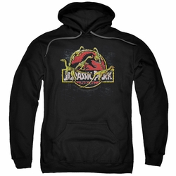 Jurassic Park pull-over hoodie Something Has Survived adult black
