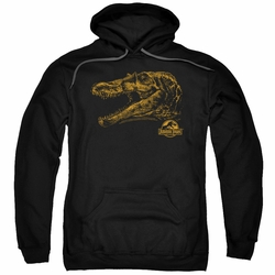 Jurassic Park pull-over hoodie Spino Mount adult black