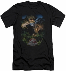 Jurassic Park slim-fit t-shirt Happy Family mens black