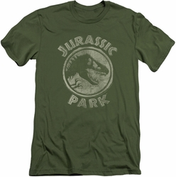 Jurassic Park slim-fit t-shirt Jp Stamp mens military green