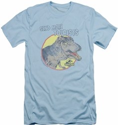 Jurassic Park slim-fit t-shirt More Tourist mens light blue