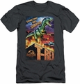 Jurassic Park slim-fit t-shirt Rex In The City mens charcoal