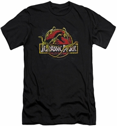 Jurassic Park slim-fit t-shirt Something Has Survived mens black