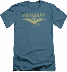 Jurassic Park slim-fit t-shirt Wingman mens slate