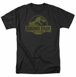 Jurassic Park t-shirt Distressed Logo mens black