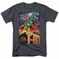 Jurassic Park t-shirt Rex In The City mens charcoal