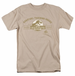 Jurassic Park t-shirt Survival Training Squad mens sand
