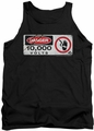 Jurassic Park tank top Electric Fence Sign mens black