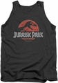 Jurassic Park tank top Faded Logo mens charcoal