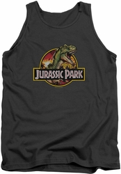 Jurassic Park tank top Retro Rex mens charcoal