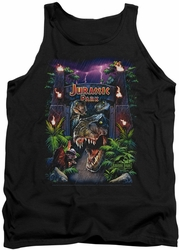 Jurassic Park tank top Welcome To The Park mens black