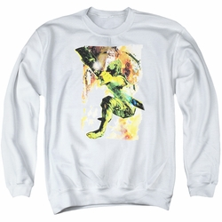 Justice League adult crewneck sweatshirt Green Arrow Painted Archer white