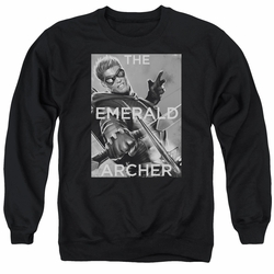 Justice League adult crewneck sweatshirt Green Arrow Trigger black