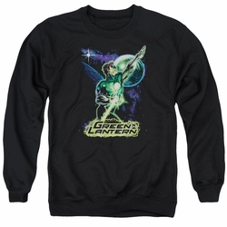 Justice League adult crewneck sweatshirt Green Lantern Hal Galaxy black