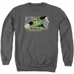Justice League adult crewneck sweatshirt Green Lantern Space Cop charcoal