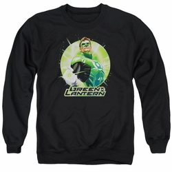 Justice League adult crewneck sweatshirt Green Lantern Static black