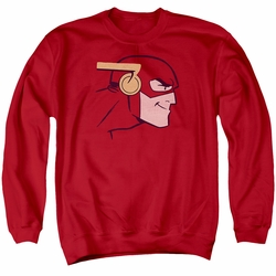 Justice League adult crewneck sweatshirt The Flash Cooke Head red