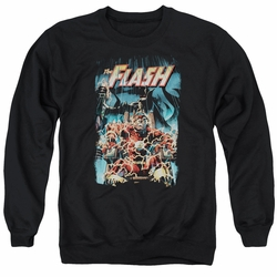 Justice League adult crewneck sweatshirt The Flash Electric Chair black