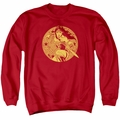 Justice League adult crewneck sweatshirt Young Wonder Woman red