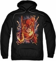 Justice League JLA pull-over hoodie Flash #1 adult black