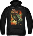 Justice League JLA pull-over hoodie Green Arrow #1 adult black