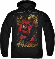 Justice League JLA pull-over hoodie Nightwing #1 adult black