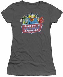 Justice League juniors t-shirt 8 Bit JLA charcoal