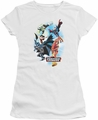 Justice League juniors t-shirt At Your Service white