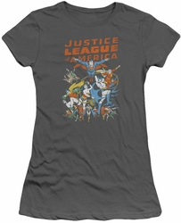 Justice League juniors t-shirt Big Group charcoal