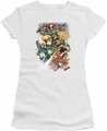 Justice League juniors t-shirt Brightest Day #0 white