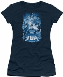 Justice League juniors t-shirt Burst navy