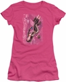 Justice League juniors t-shirt Catwoman #1 hot pink
