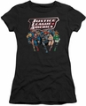 Justice League juniors t-shirt Charging Justice black