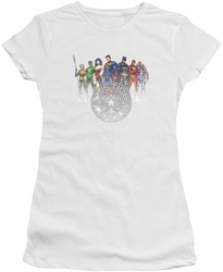 Justice League juniors t-shirt Circle Crest white