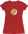 Justice League juniors t-shirt Destroyed Flash Logo red