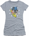 Justice League juniors t-shirt Face Off athletic heather