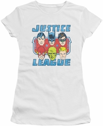 Justice League juniors t-shirt Faces Of Justice white